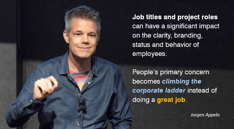 People's primary concern becomes climbing the corporate ladder instead of doing a great job.